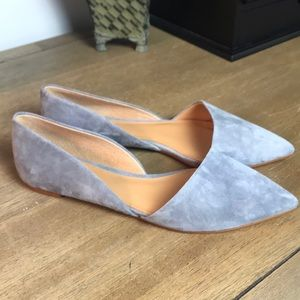 New J. Crew Gray Suede Flats